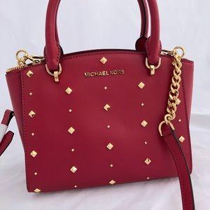 d3709360dd80f1 Michael Kors Bags - Michael Kors Ellis Small Convertible Satchel Stud